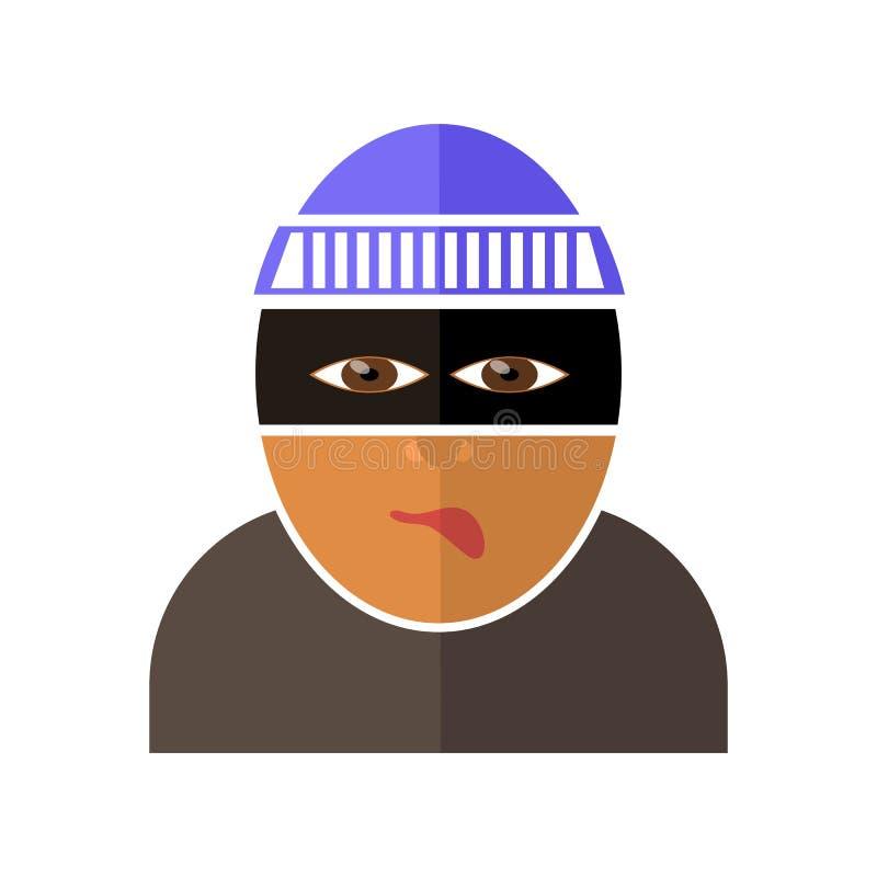 Icône de bandit d'isolement illustration de vecteur