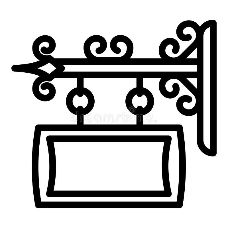 Icône de bannière de rue en métal, style d'ensemble illustration libre de droits