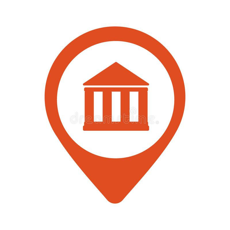 Icône de banque d'emplacement illustration de vecteur