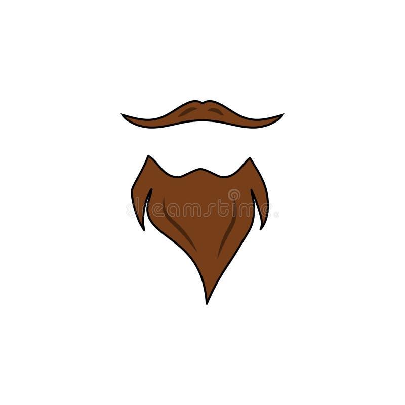 Icône de barbe et de moustache Illustration simple d'élément Conception de symbole de barbe et de moustache d'ensemble de collect illustration de vecteur