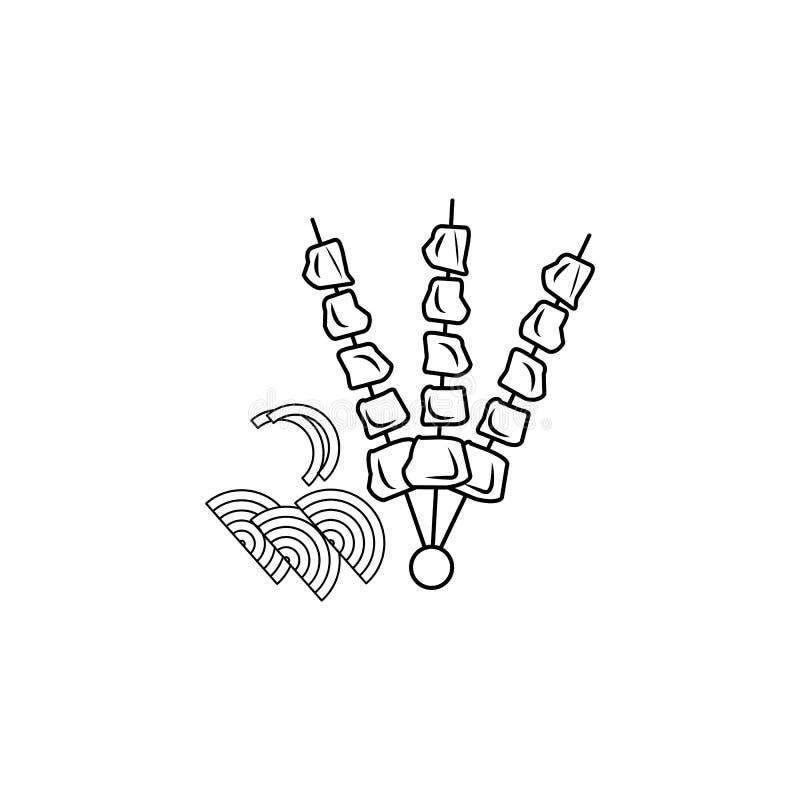 Icône de barbecue Élément d'icône arabe de culture pour les apps mobiles de concept et de Web Ligne mince icône pour la conceptio illustration stock