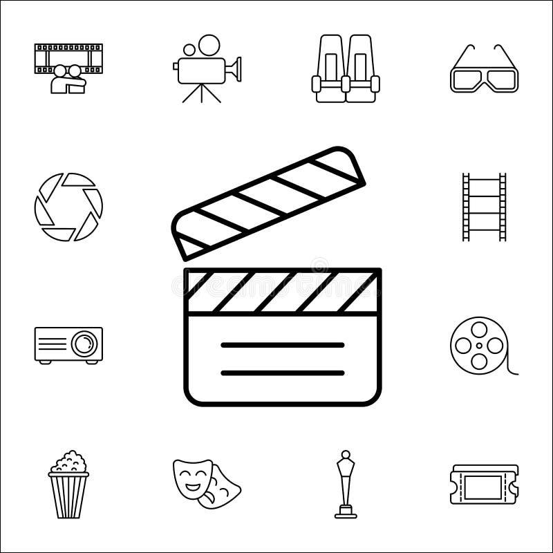 Icône de bardeau Ensemble universel d'icônes de cinéma pour le Web et le mobile illustration libre de droits