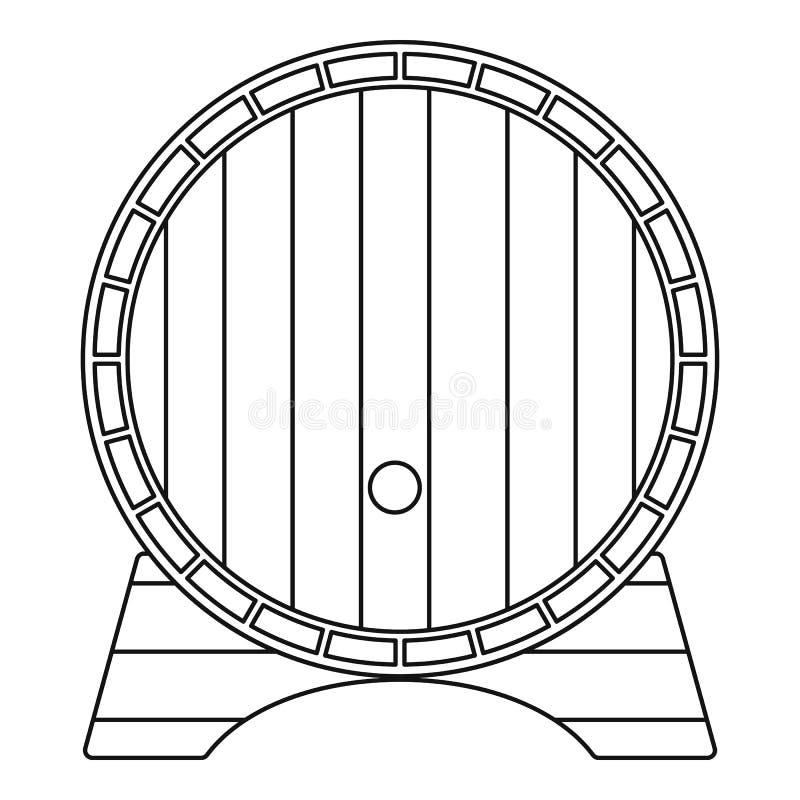 Icône de baril de bière, style d'ensemble illustration de vecteur