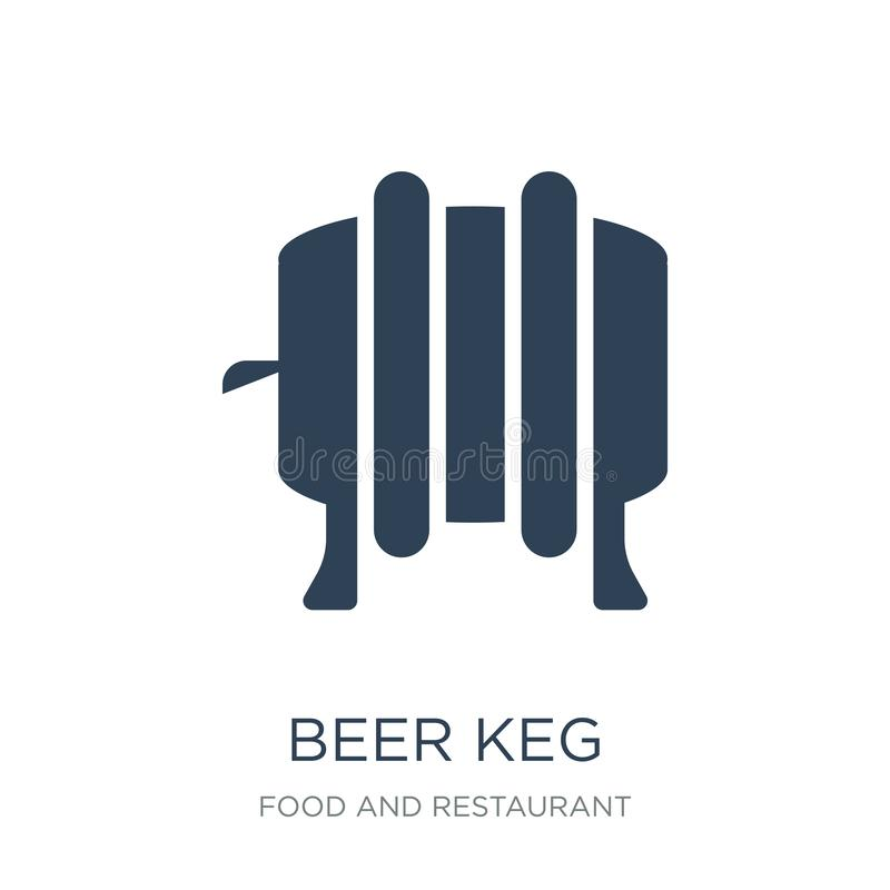 icône de barillet de bière dans le style à la mode de conception icône de barillet de bière d'isolement sur le fond blanc apparte illustration stock