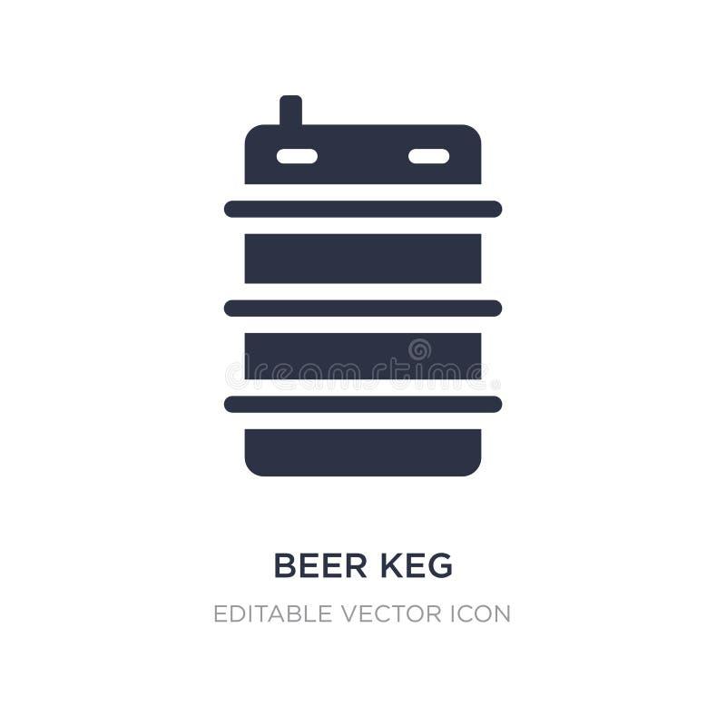 icône de barillet de bière sur le fond blanc Illustration simple d'élément de nourriture et de concept de restaurant illustration de vecteur