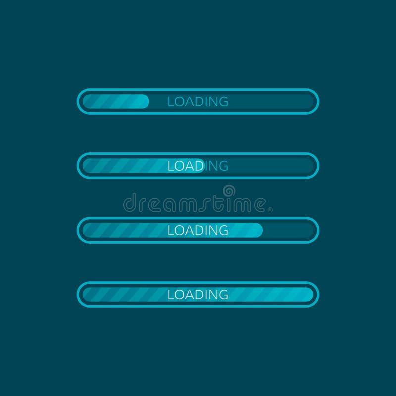 Icône de barre de chargement Élément créatif de web design Illustration de vecteur illustration de vecteur