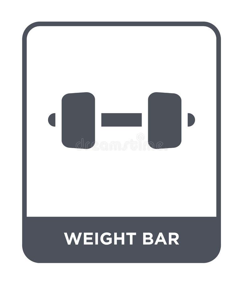 icône de barre de poids dans le style à la mode de conception icône de barre de poids d'isolement sur le fond blanc icône de vect illustration stock