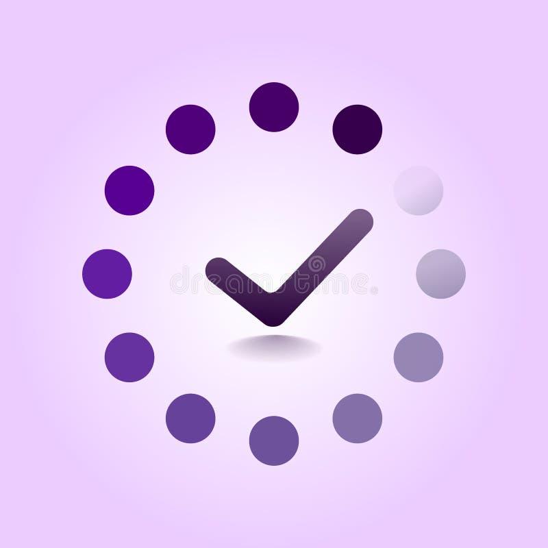 Icône de barre de progrès réalisée par charge Dispositif de précharge de Web Icône de chargement Illustration plate de conception illustration de vecteur