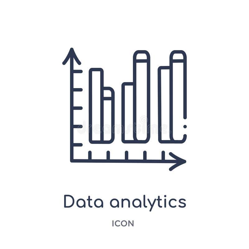 icône de barres d'analytics de données double de collection d'ensemble d'interface utilisateurs Ligne mince icône de barres d'ana illustration de vecteur