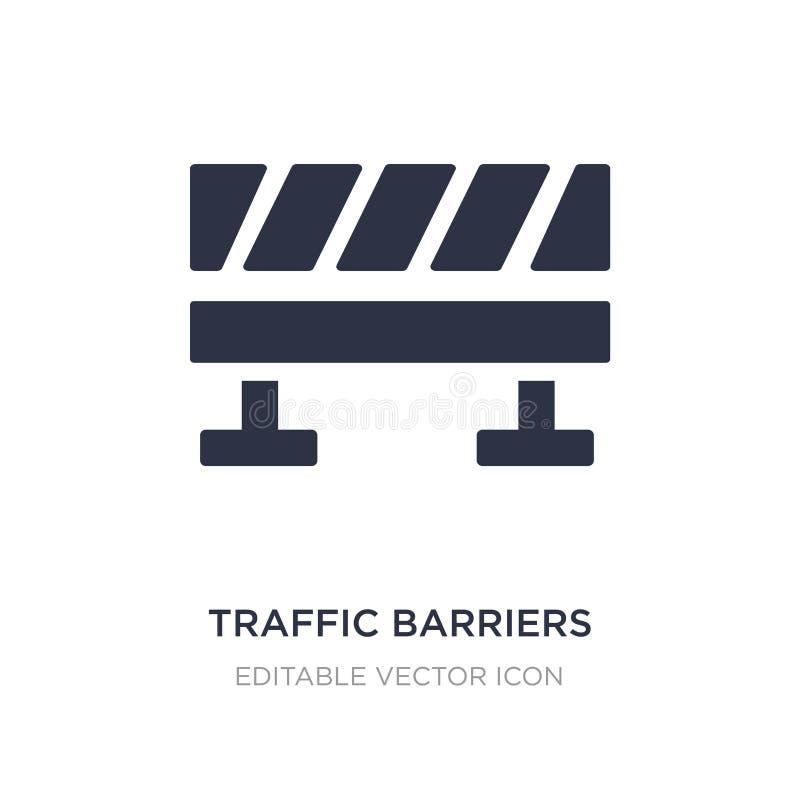 icône de barrières du trafic sur le fond blanc Illustration simple d'élément de notion générale illustration de vecteur