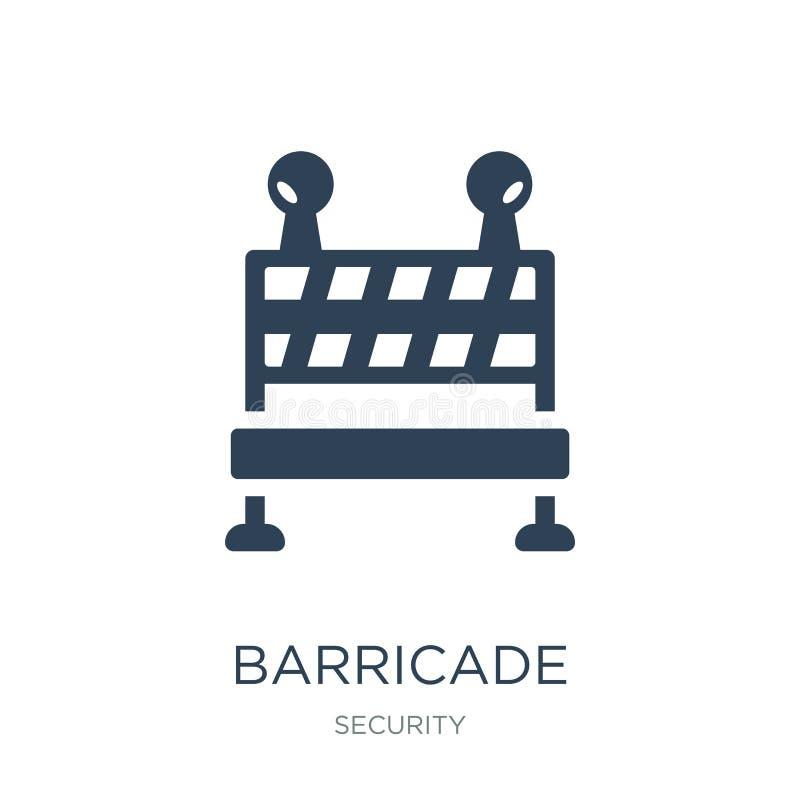 icône de barricade dans le style à la mode de conception icône de barricade d'isolement sur le fond blanc appartement simple et m illustration libre de droits
