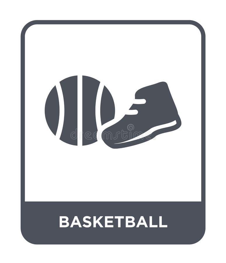 icône de basket-ball dans le style à la mode de conception Icône de basket-ball d'isolement sur le fond blanc icône de vecteur de illustration stock