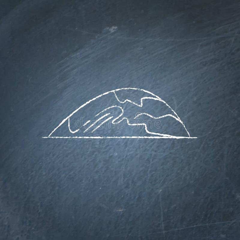 Icône de basse colline sur le tableau illustration de vecteur