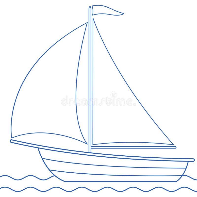 Icône de bateau à voile illustration stock