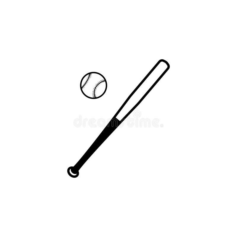 Icône de batte de baseball et de boule Vecteur illustration de vecteur