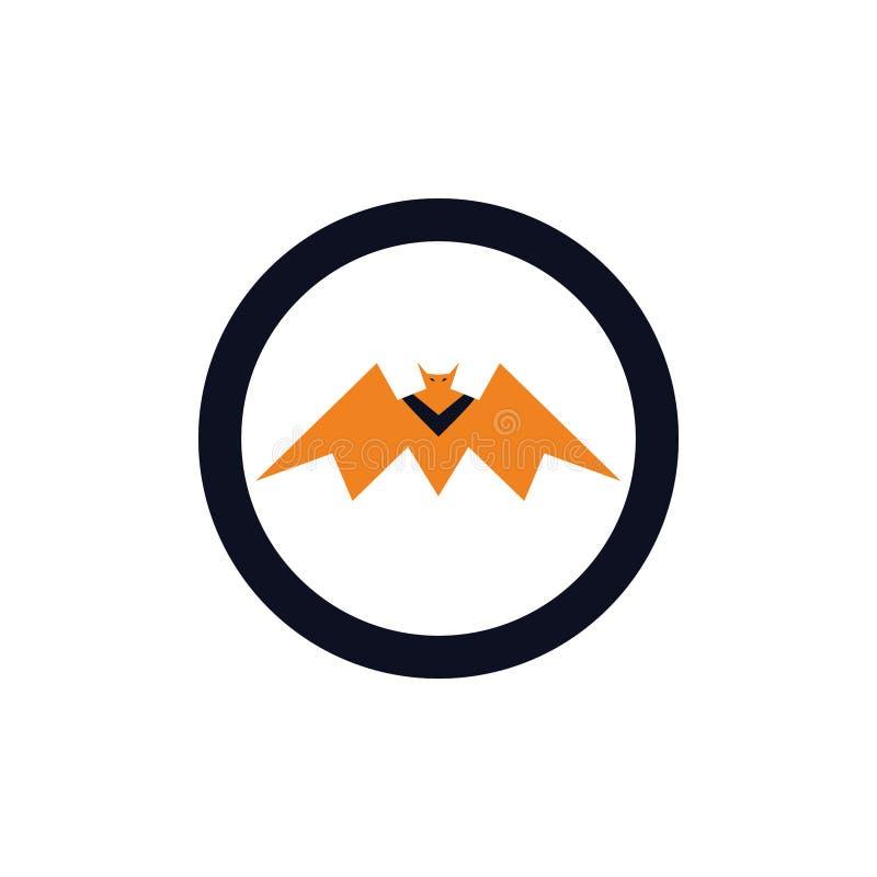 Icône de batte de roi et concept jaunes de logo illustration libre de droits