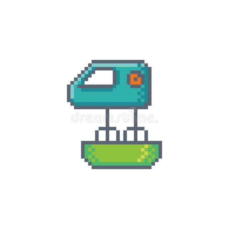 Icône de batteur d'art de pixel illustration libre de droits
