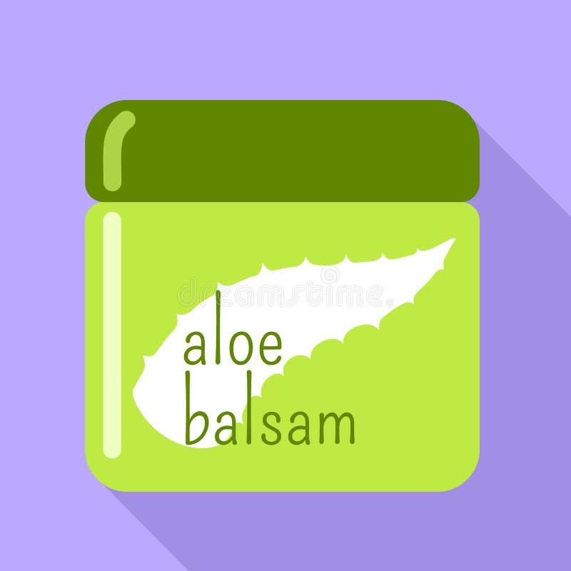 Icône de baume d'aloès, style plat illustration libre de droits