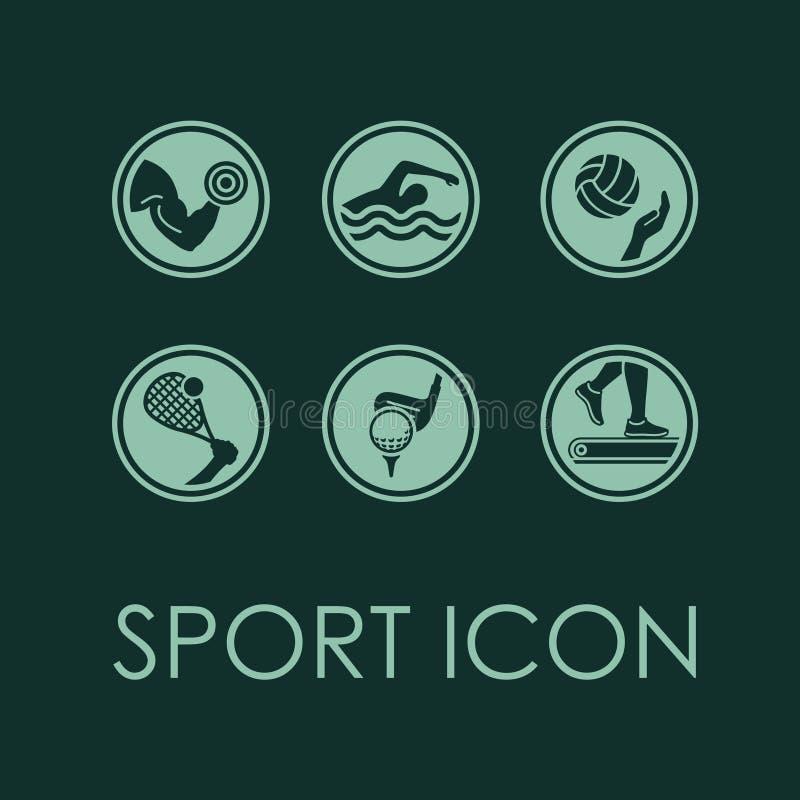 Icône de beauté de forme physique de sport de vecteur illustration stock