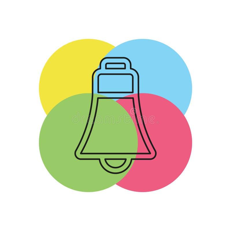 Icône de Bell - symbole d'alarme de vecteur illustration stock