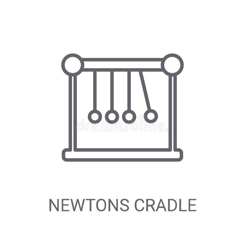 Icône de berceau de newton Newton à la mode bercent le concept de logo sur le blanc illustration libre de droits