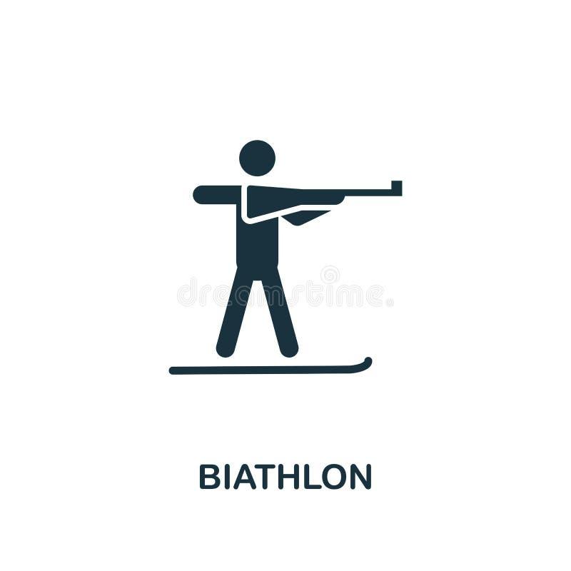 icône de biathlon Conception de la meilleure qualité de style de collection d'icône de sports d'hiver UI et UX Icône parfaite de  illustration libre de droits