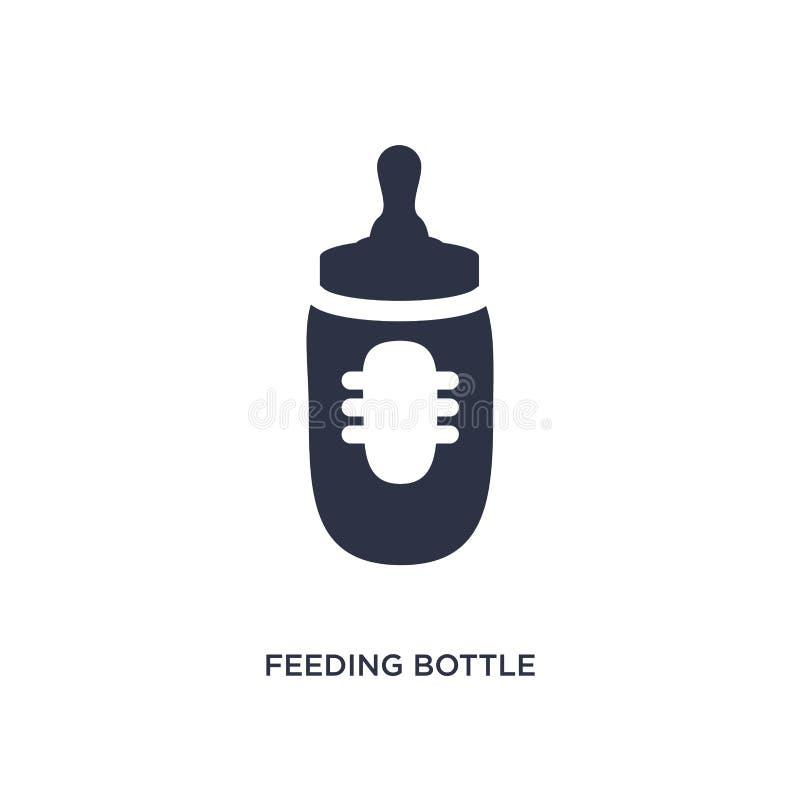icône de biberon sur le fond blanc Illustration simple d'élément de concept d'enfant et de bébé illustration de vecteur