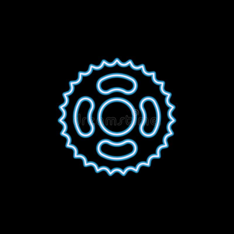 icône de bicyclette d'astérisque dans le style au néon Un de l'icône de collection de motobike peut être employé pour UI, UX illustration de vecteur