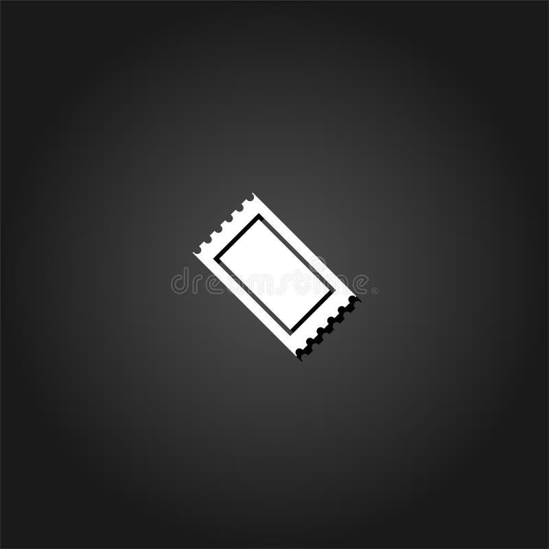 Icône de billet plate illustration stock