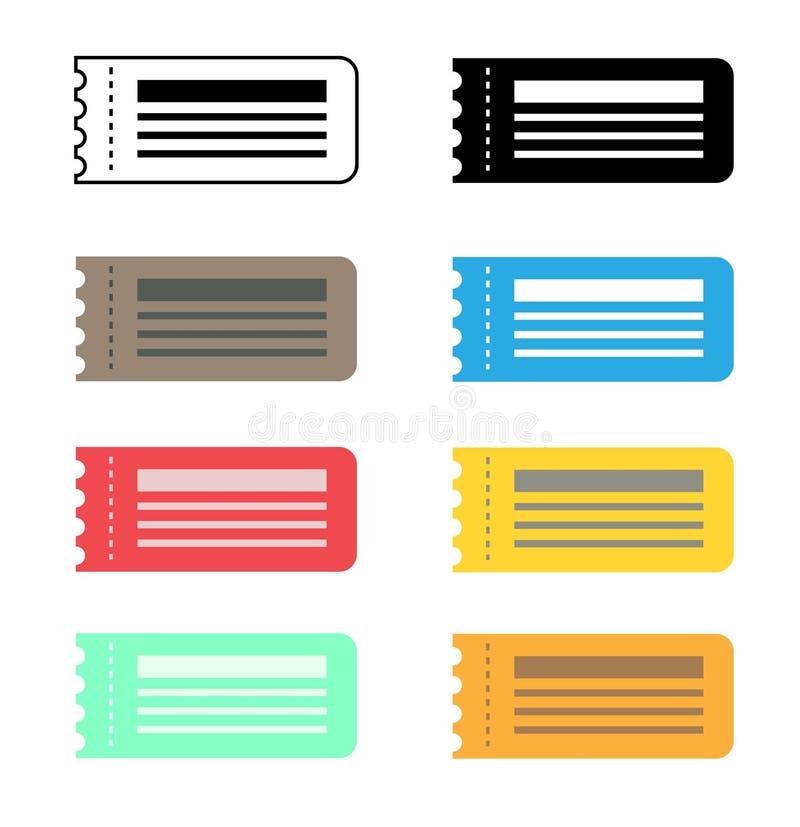 Icône de billet sur le fond blanc Style plat billet pour votre Web illustration stock