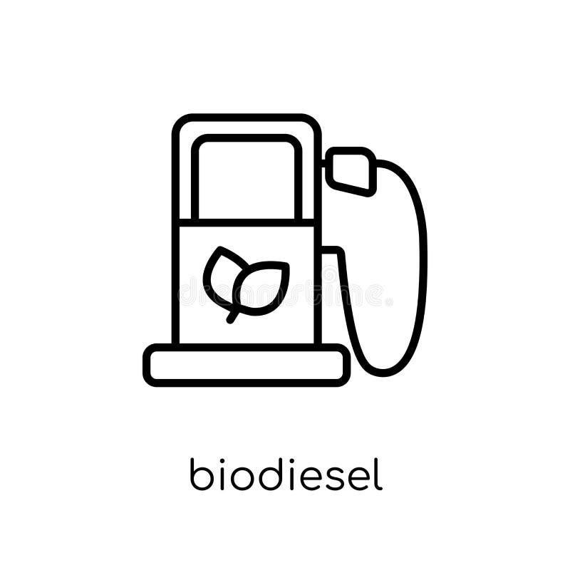 Icône de biodiesel de collection d'écologie illustration libre de droits