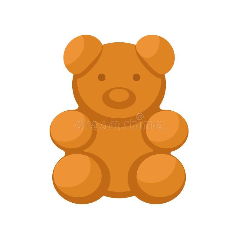 Icône de biscuit d'ours, style plat illustration stock