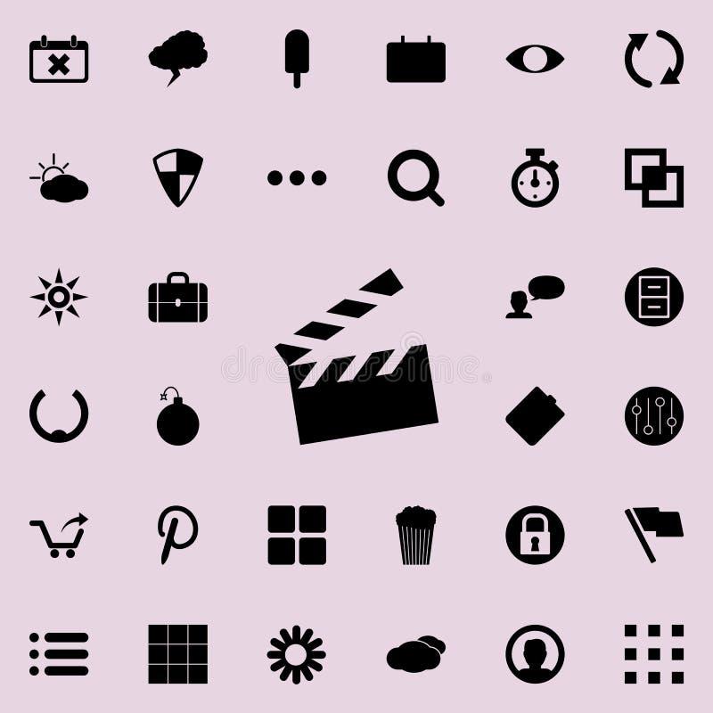 Icône de biscuit de film Ensemble détaillé d'icônes minimalistic Conception graphique de la meilleure qualité Une des icônes de c illustration de vecteur