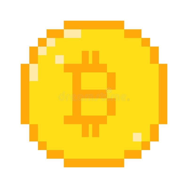 Icône de bitcoin de pixel de vecteur illustration libre de droits