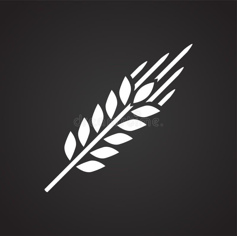 Icône de blé sur le fond noir pour le graphique et la conception web, signe simple moderne de vecteur Internet bleu de concept de illustration de vecteur