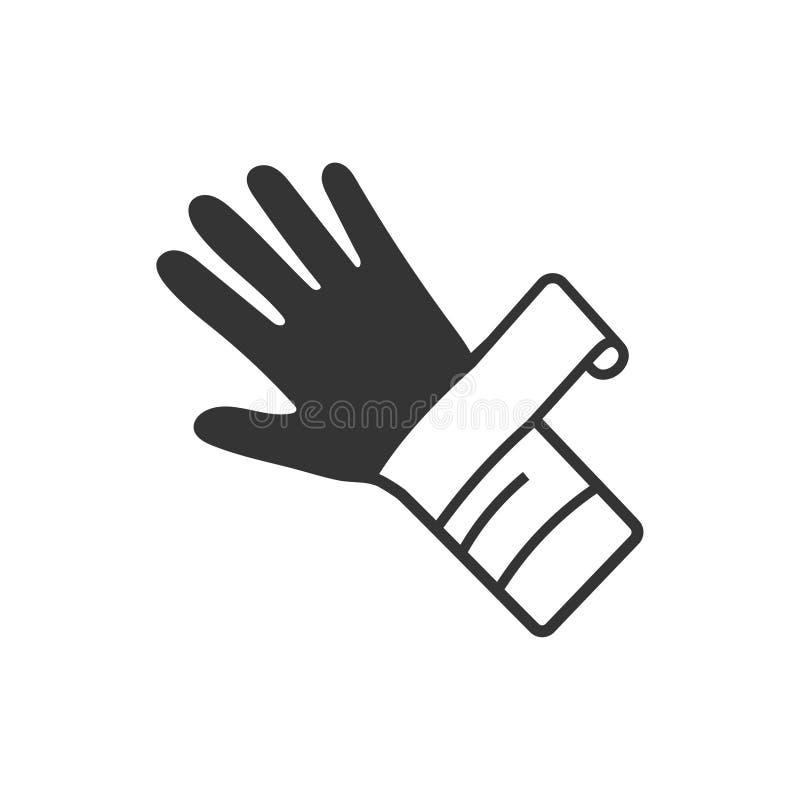 Icône de blessure de main illustration stock