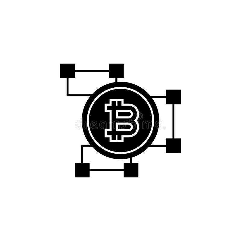 icône de blockchain de bitcoin Élément de crypto icône de devise pour les apps mobiles de concept et de Web L'icône détaillée de  illustration stock