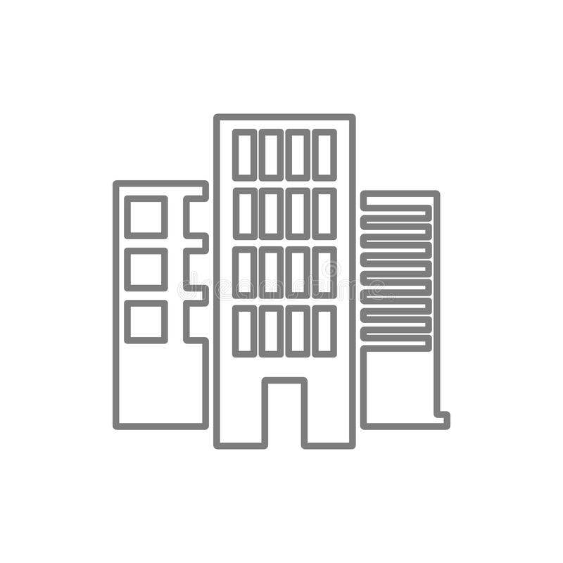 Icône de Bluetooth Élément de sécurité de cyber pour le concept et l'icône mobiles d'applis de Web Ligne mince icône pour la conc illustration libre de droits