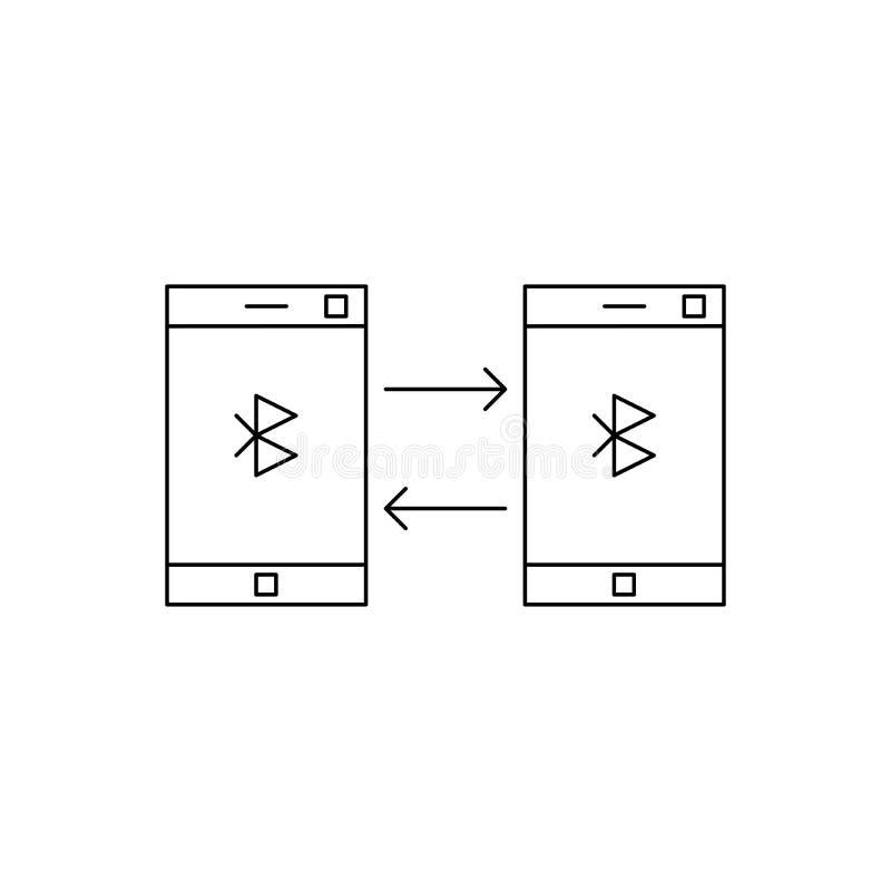 Icône de bluetooth de téléphone illustration de vecteur