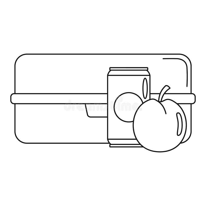 Icône de boîte à kola d'Apple, style d'ensemble illustration stock