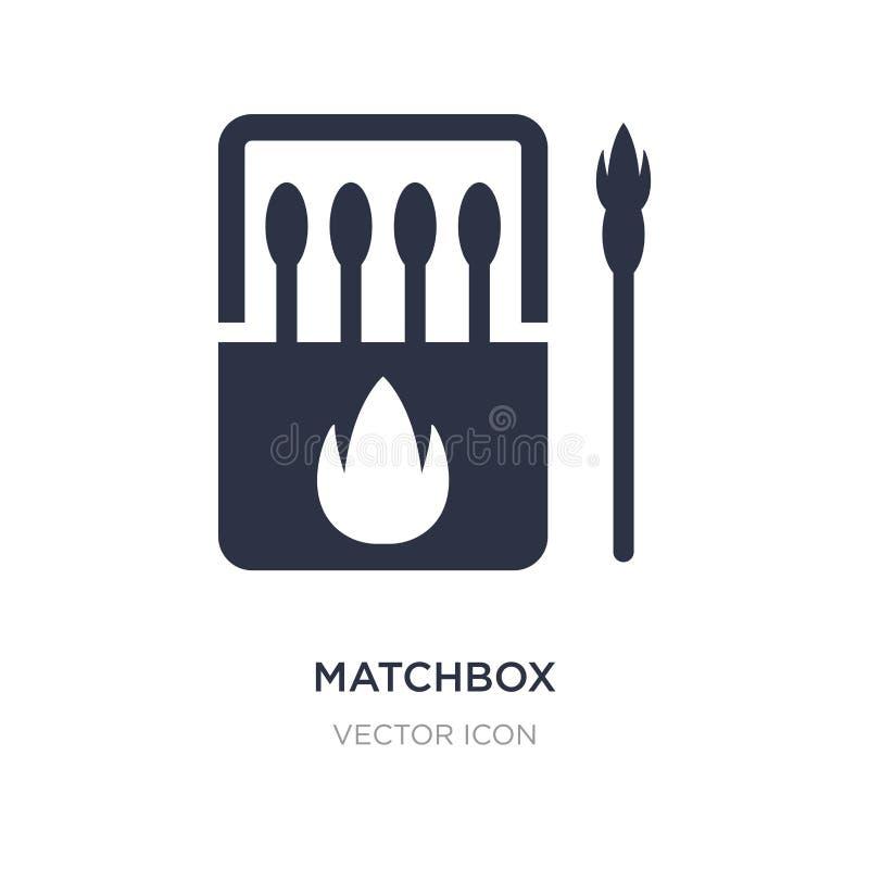 icône de boîte d'allumettes sur le fond blanc Illustration simple d'élément d'activité et de concept de passe-temps illustration libre de droits