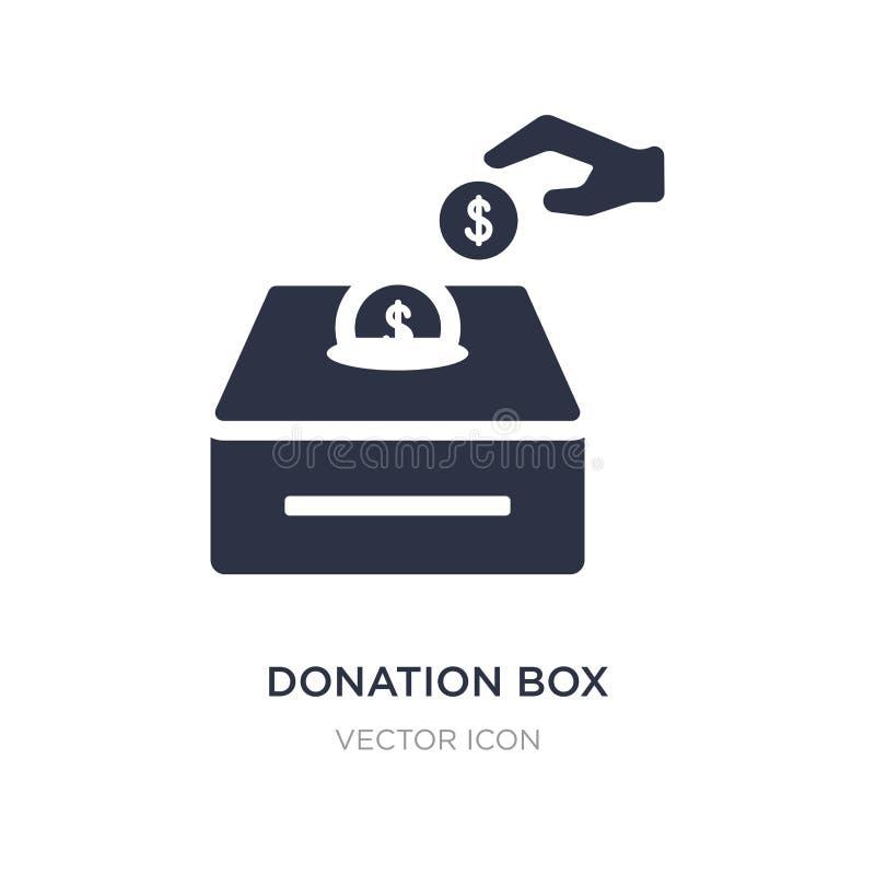 icône de boîte de donation sur le fond blanc Illustration simple d'élément de concept de charité illustration de vecteur
