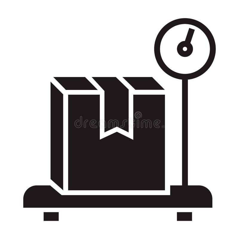 Icône de boîte de la livraison de poids, style simple illustration de vecteur