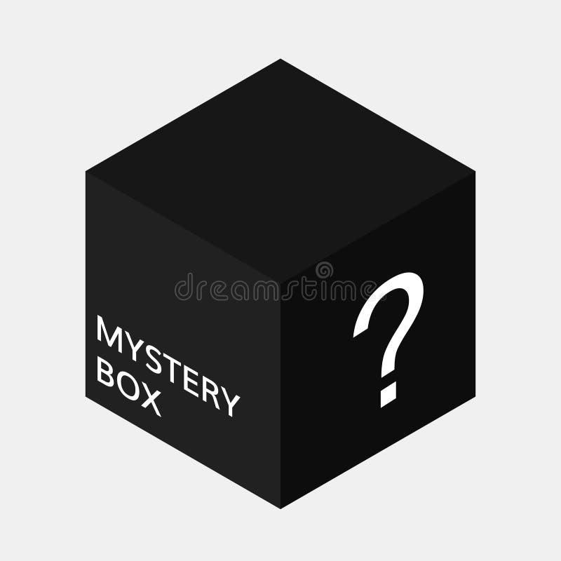 Icône de boîte de mystère illustration stock