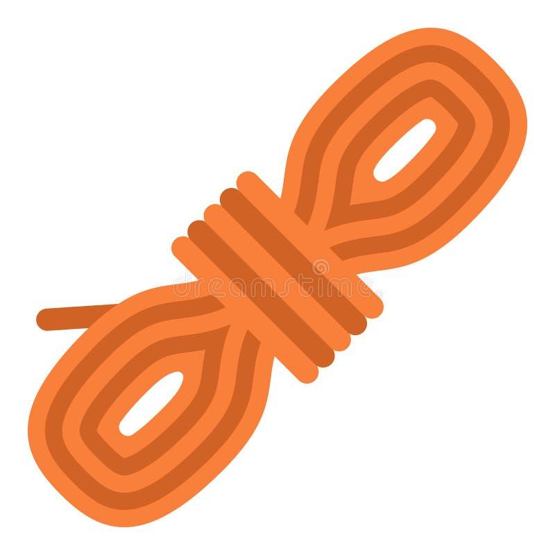 Icône de bobine de corde, style plat images stock