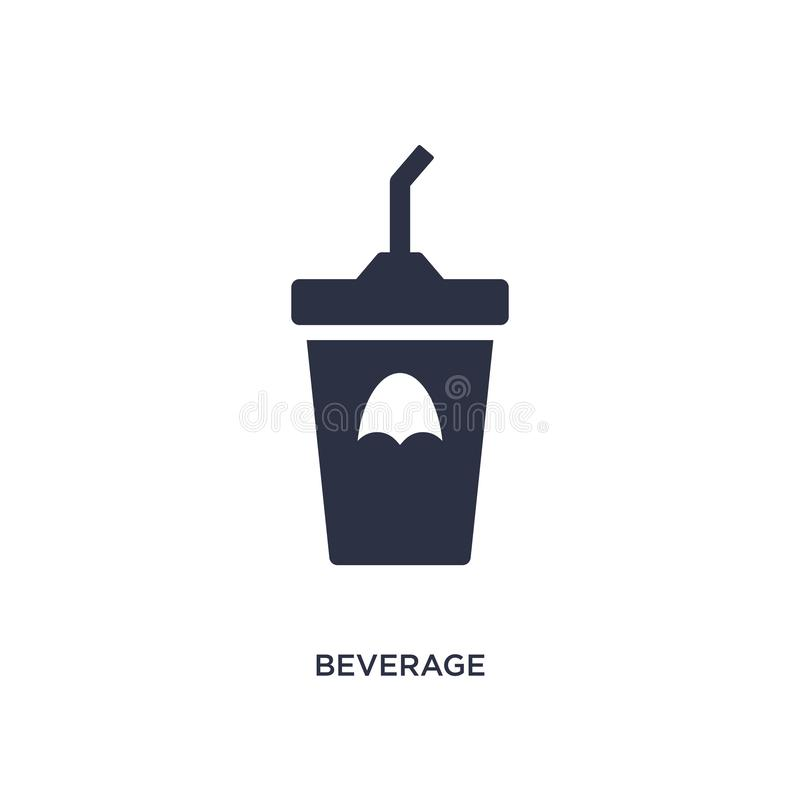 icône de boisson sur le fond blanc Illustration simple d'élément de concept d'aliments de préparation rapide illustration libre de droits
