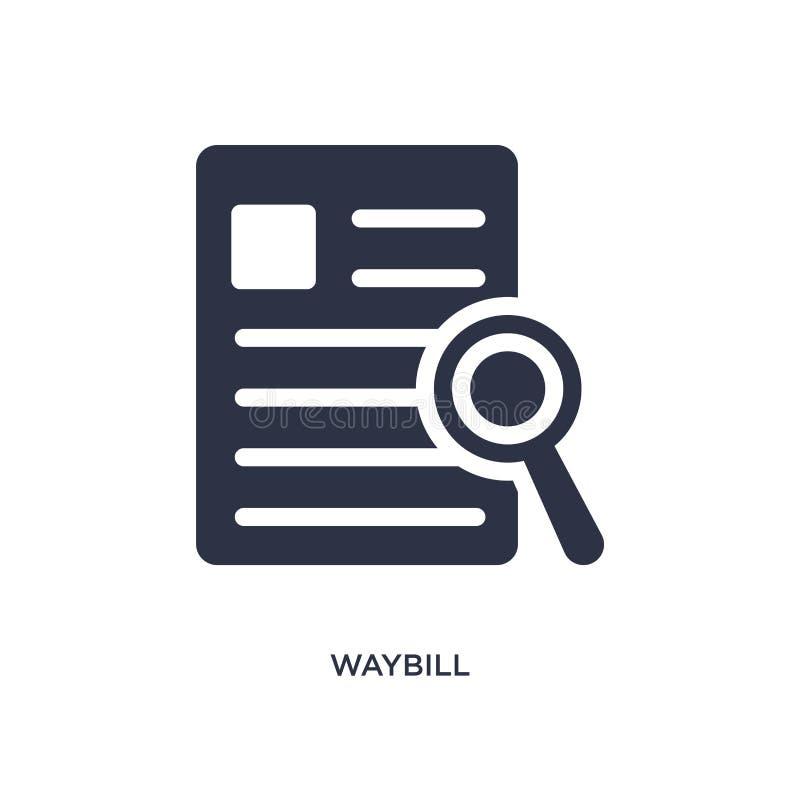 icône de bordereau d'expédition sur le fond blanc Illustration simple d'élément de concept de la livraison et de logistique illustration libre de droits