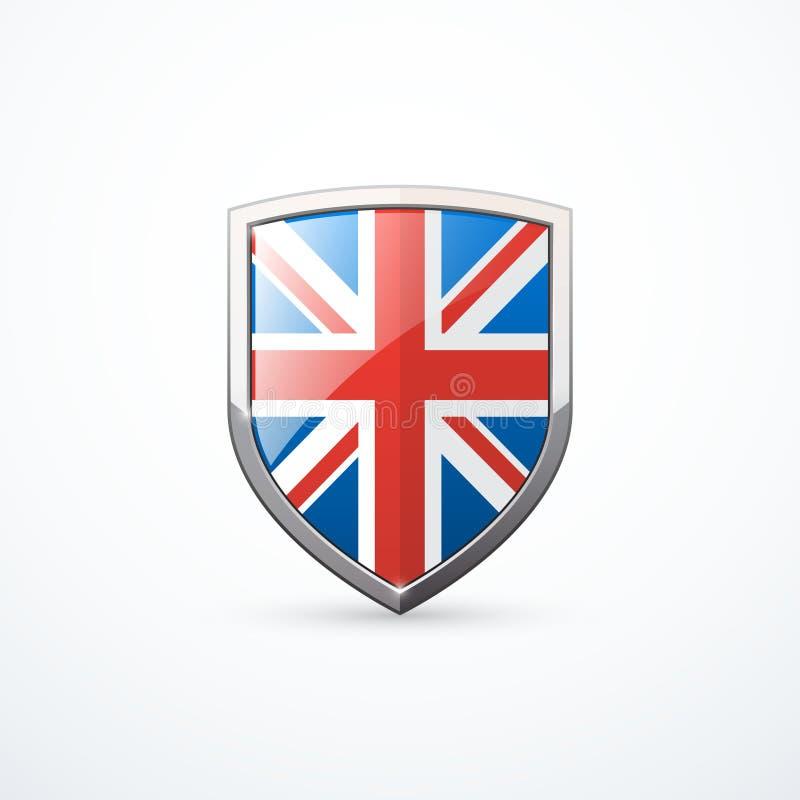 Icône de bouclier de l'Angleterre illustration de vecteur