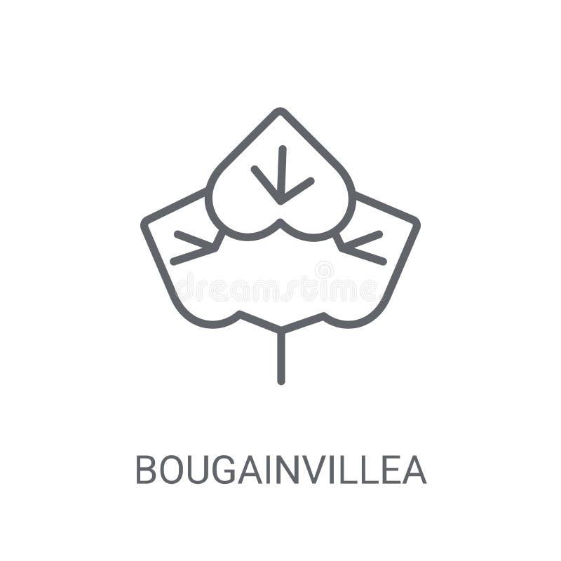 Icône de bouganvillée Concept à la mode de logo de bouganvillée sur b blanc illustration libre de droits