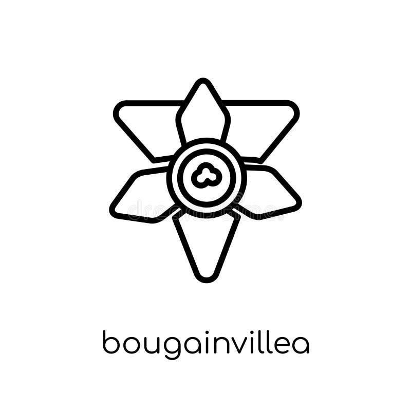 Icône de bouganvillée Vecteur linéaire plat moderne à la mode Bougainvill illustration de vecteur